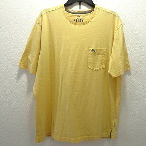 Men's Tommy Bahama Relax Pocket Tee Large Yellow